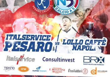 Italservice Pesaro-Lollo Caffè Napoli in DIRETTA STREAMING (stasera ore 20.45)