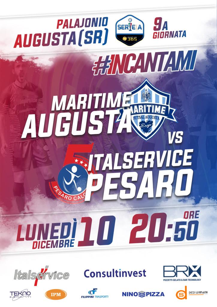 9 Maritime Augusta-Italservice Pesaro Locandina 20.50