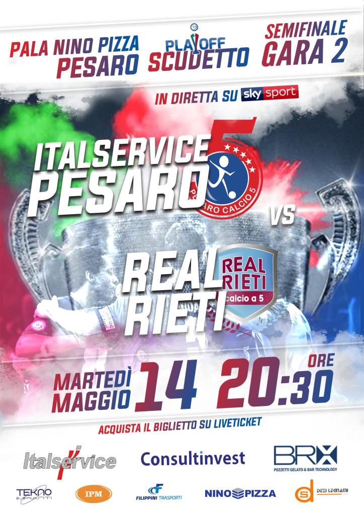 25 - playoff, semifinale 2 - Italservice-Real Rieti GARA2