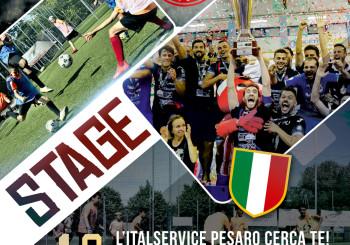 Si avvicina lo stage di calcio a 5 dell'Italservice Pesaro del 18 luglio. Appuntamento imperdibile