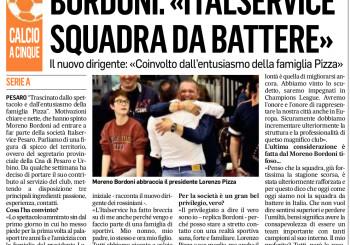 """Il neo dirigente Moreno Bordoni: """"Coinvolto dallo spettacolo del Calcio a 5 e dall'entusiasmo della famiglia Pizza"""""""