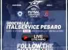 Champions League, ore 16.30 IFK Uddevalla-Italservice Pesaro: DIRETTA STREAMING QUI
