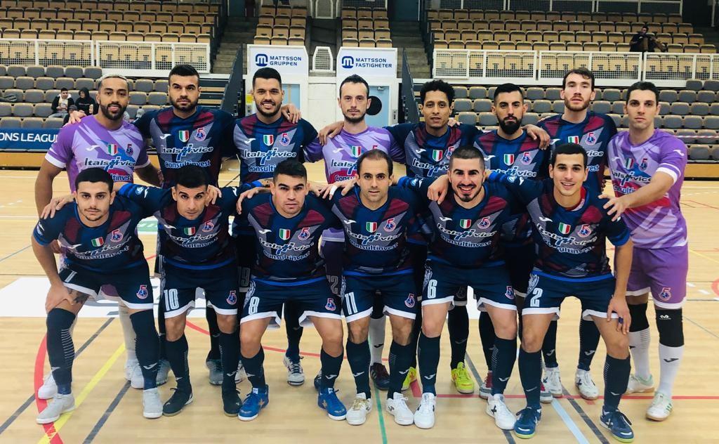 Italservice Pesaro, foto di squadra prima del match con il Georgians Tbilisi