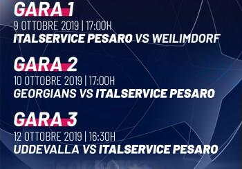 L'Italservice è atterrata in Svezia. Pesaro, le Marche e l'Italia: tutti con i biancorossi per la Champions League!