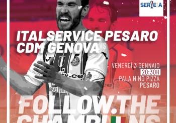 Inizia il 2020 sportivo, inizia il girone di ritorno: domani alle 20.30 Italservice-CDM Genova al Pala Pizza