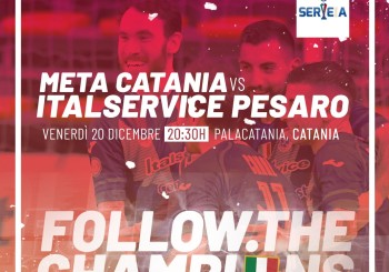 L'Italservice cerca il suo regalo di natale: alle 20,30 sfida alla Meta Catania