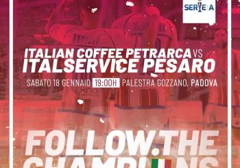 Ultimo sforzo e poi la sosta: domani, l'Italservice fa visita al Padova (ore 19,00)