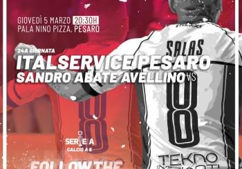 L'Italservice Pesaro sta tornando: giovedì, arriva il Sandro Abate (ore 20,30)