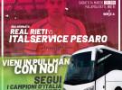 Vieni a Rieti con noi! L'Italservice organizza il pullman gratuito per la trasferta