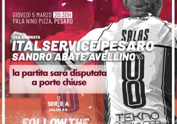 Italservice-Sandro Abate giovedì (h. 20:30) a porte chiuse, ma in diretta FB e TV. Info importanti per tifosi e stampa