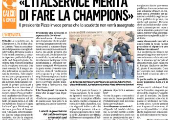 """""""L'Italservice merita di fare la Champions"""". L'intervista al presidente Pizza sul Corriere Adriatico"""