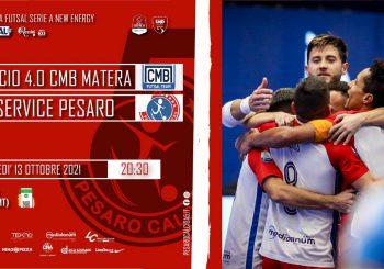 Direzione Basilicata, domani sfida alla CMB Matera (20.30, diretta FutsalTv e Rossini Tv)